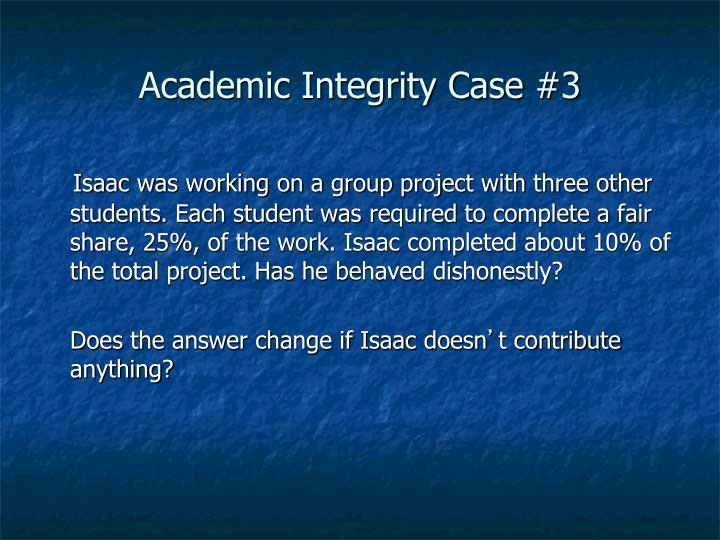 Academic Integrity Case #3