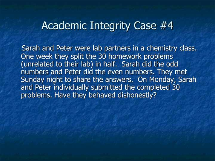 Academic Integrity Case #4