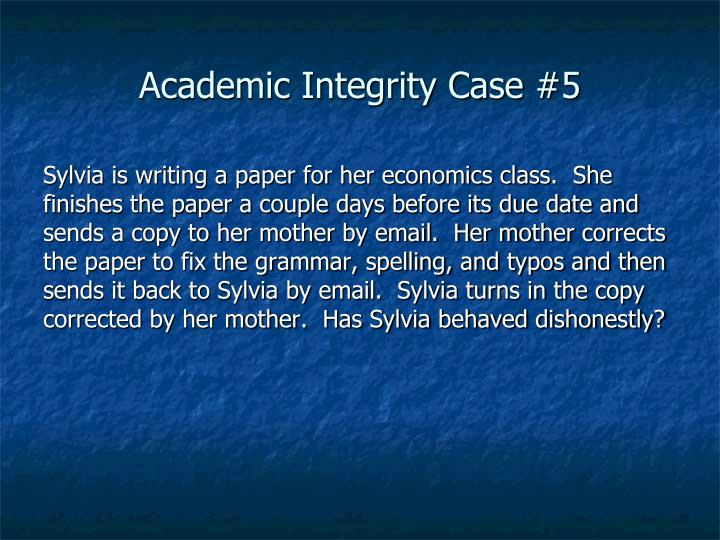 Academic Integrity Case #5