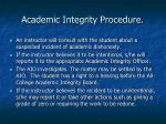 academic integrity procedure