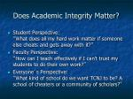 does academic integrity matter
