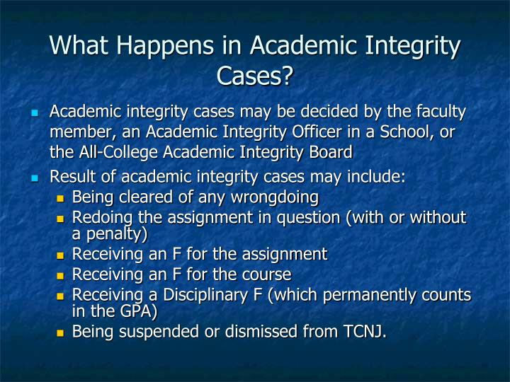 What Happens in Academic Integrity Cases?