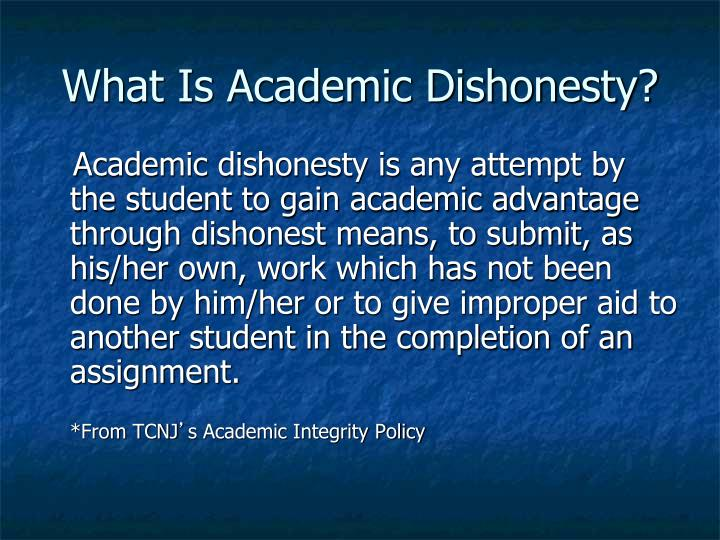 What Is Academic Dishonesty?