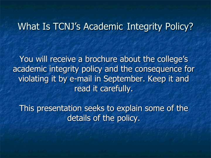 What Is TCNJ's Academic