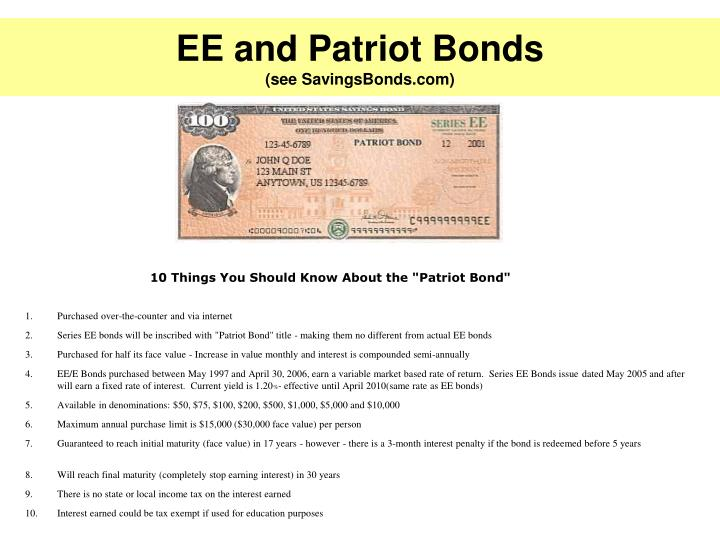 EE and Patriot Bonds