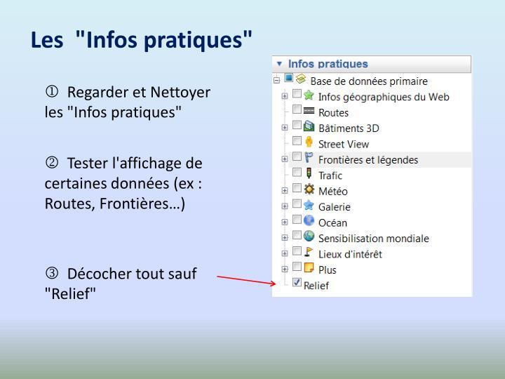 """Les  """"Infos pratiques"""""""