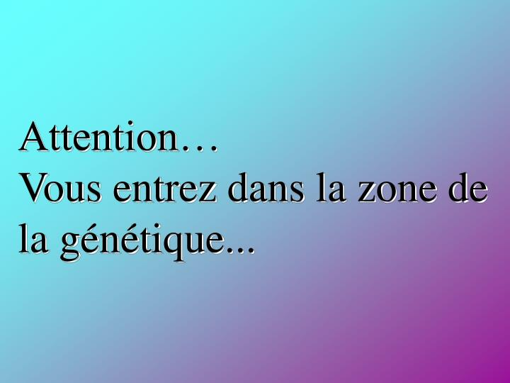 Attention…
