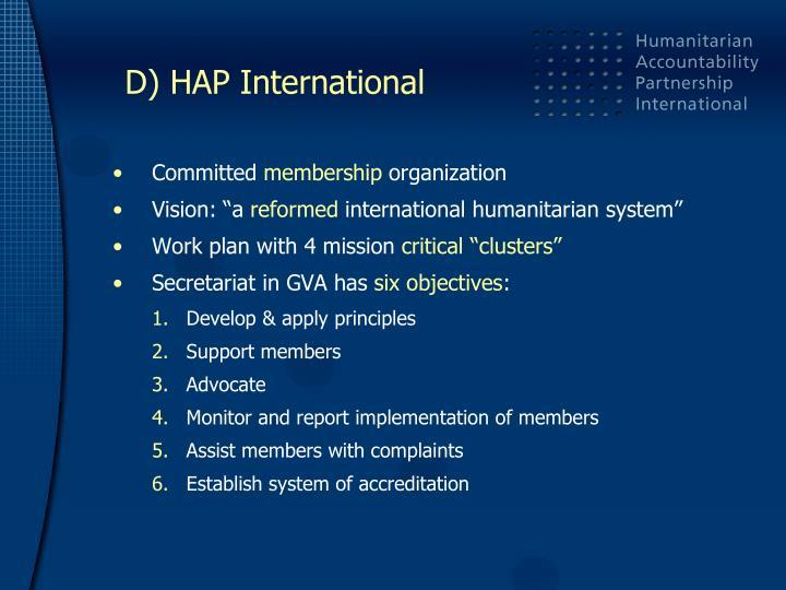 D) HAP International