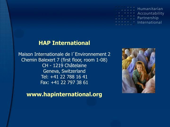 HAP International