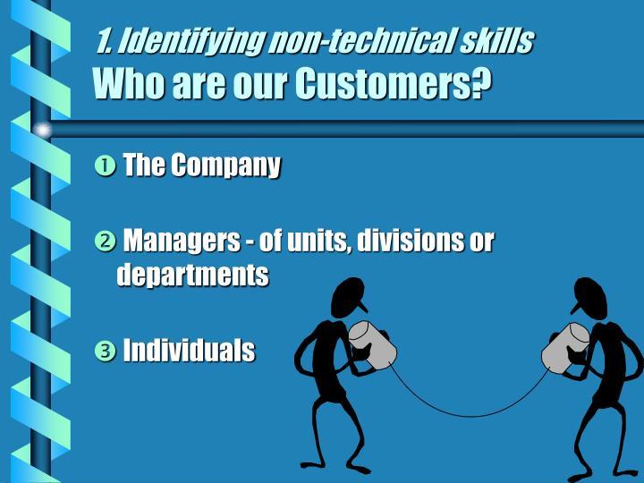 1. Identifying non-technical skills