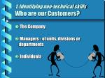 1 identifying non technical skills who are our customers