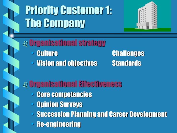 Priority Customer 1: