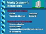 priority customer 1 the company