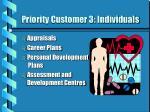 priority customer 3 individuals