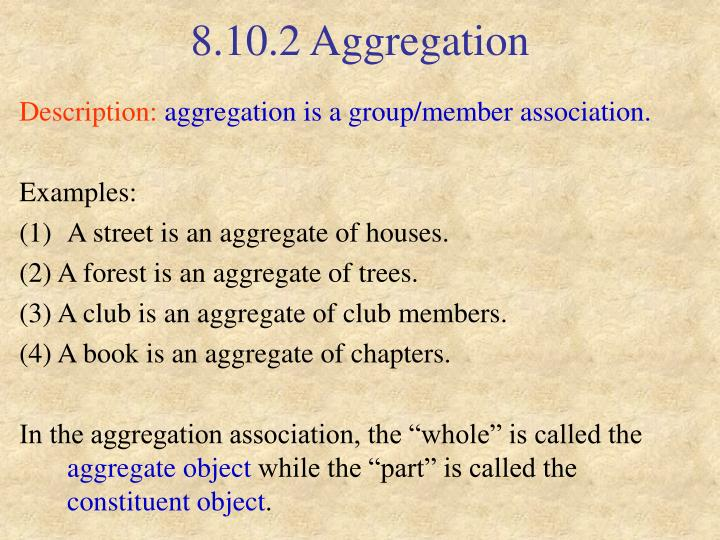 8.10.2 Aggregation