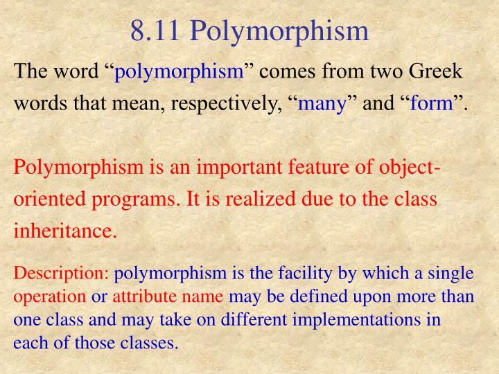 8.11 Polymorphism