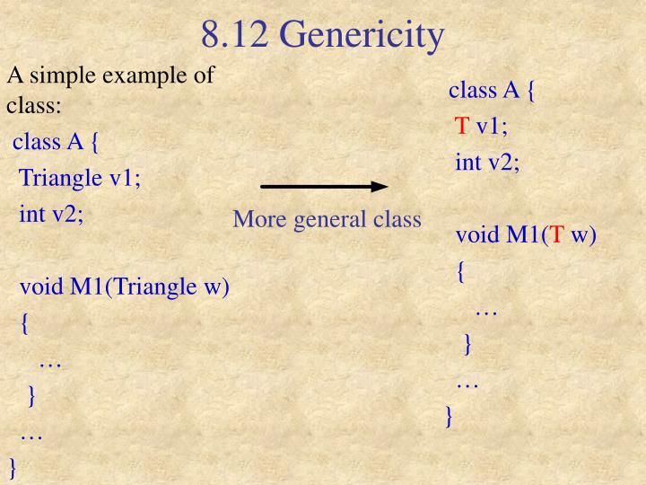 8.12 Genericity