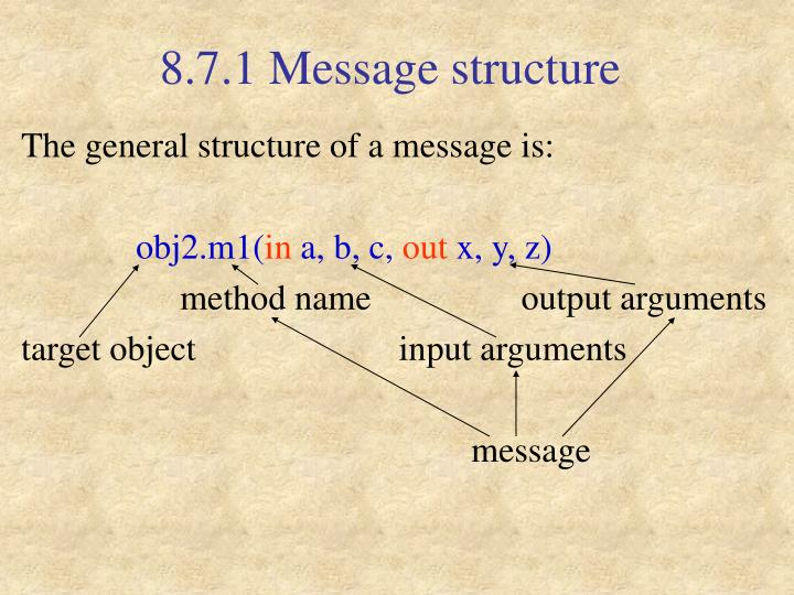8.7.1 Message structure