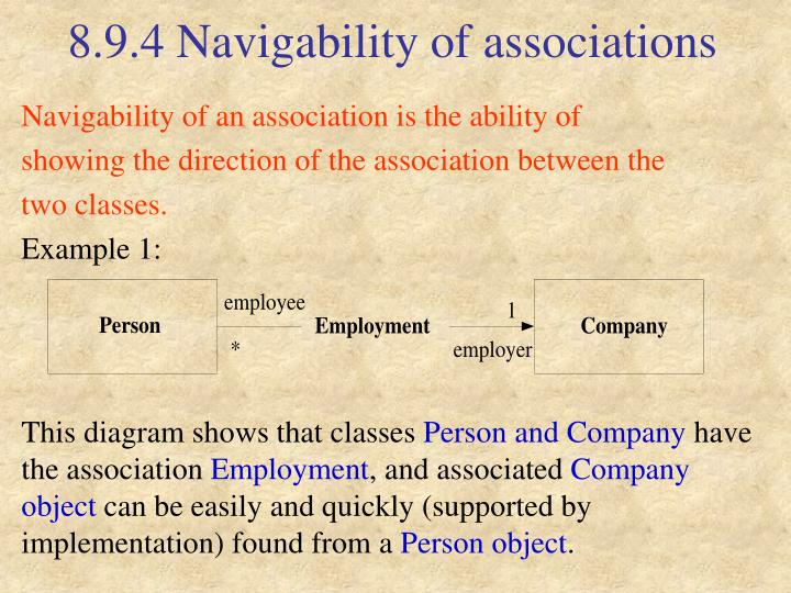8.9.4 Navigability of associations