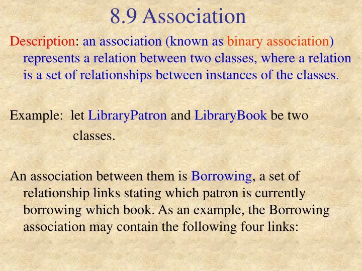 8.9 Association