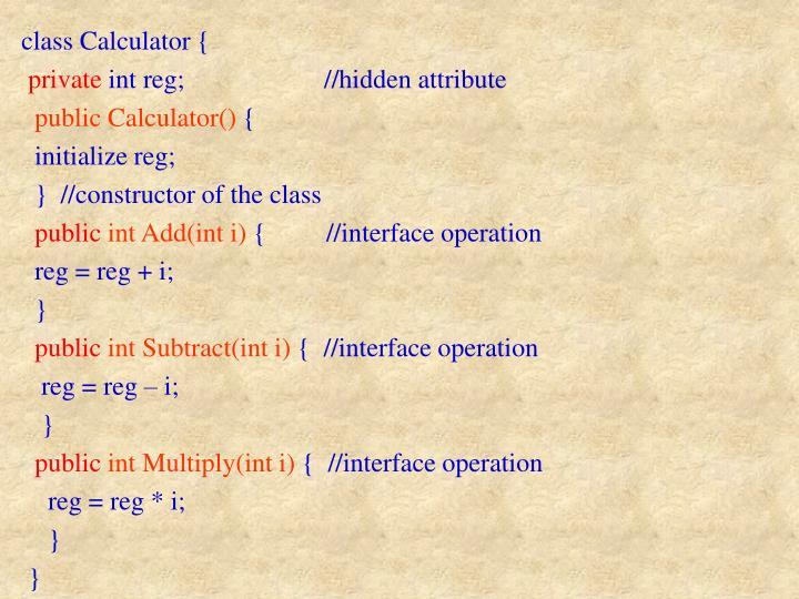 class Calculator {