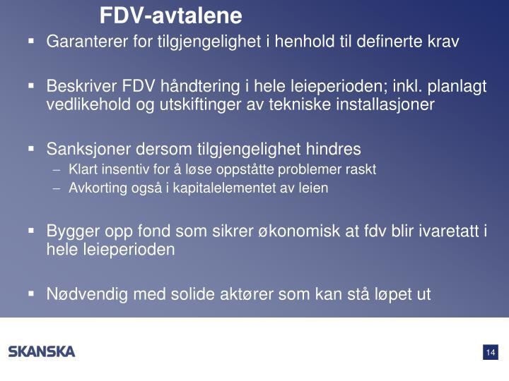 FDV-avtalene