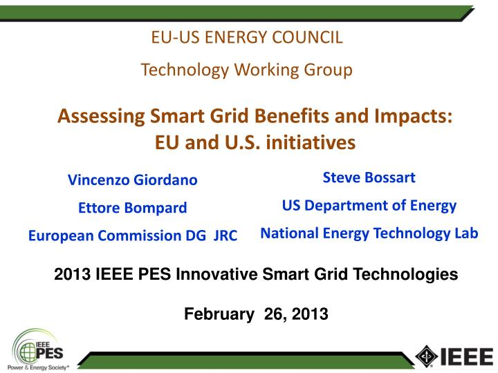 Eu us energy council technology working group