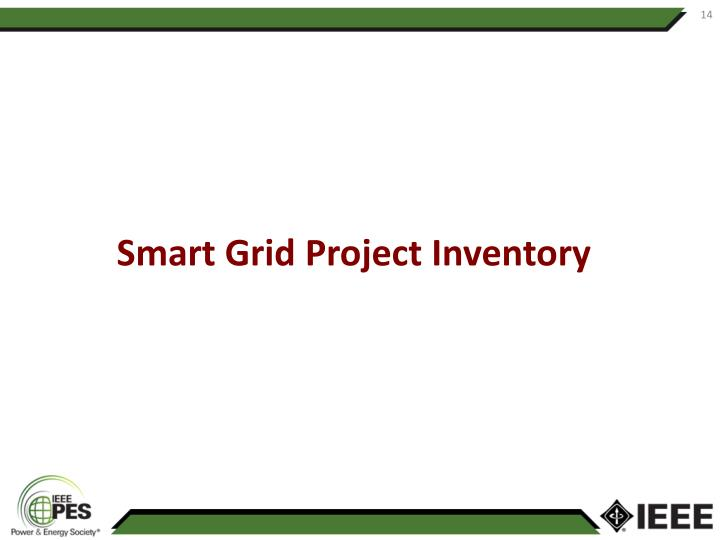 Smart Grid Project Inventory