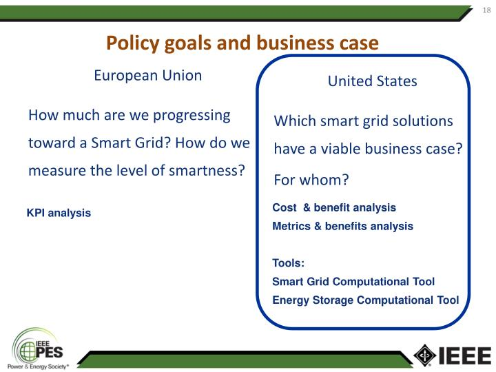 Policy goals and business case