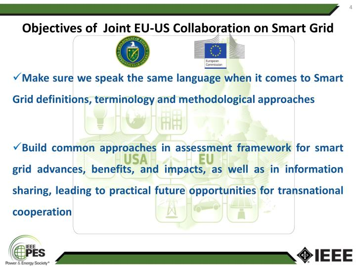Objectives of  Joint EU-US Collaboration on Smart Grid