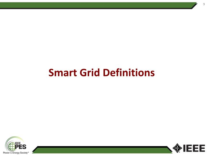 Smart Grid Definitions