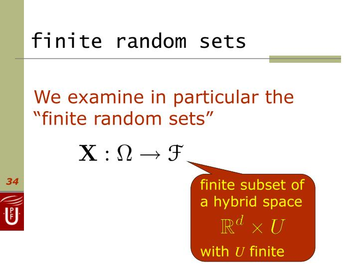 finite random sets