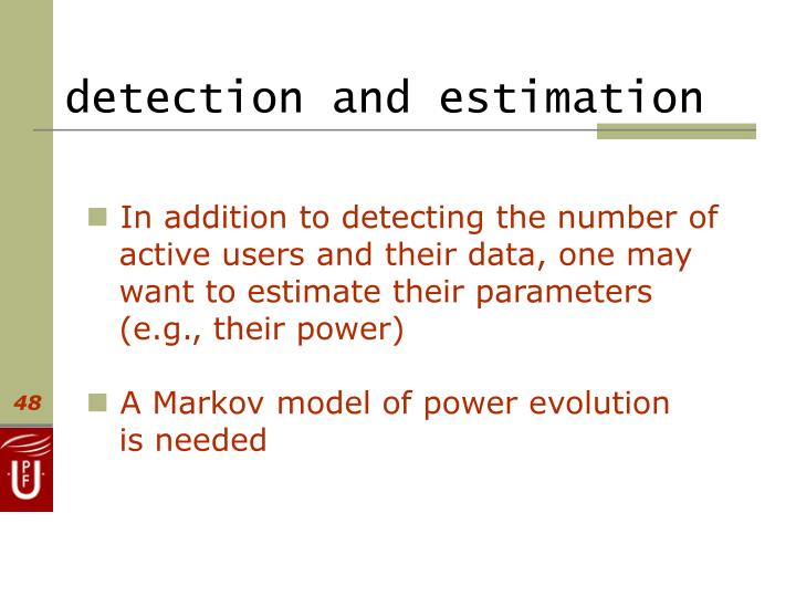 detection and estimation