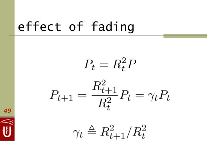 effect of fading