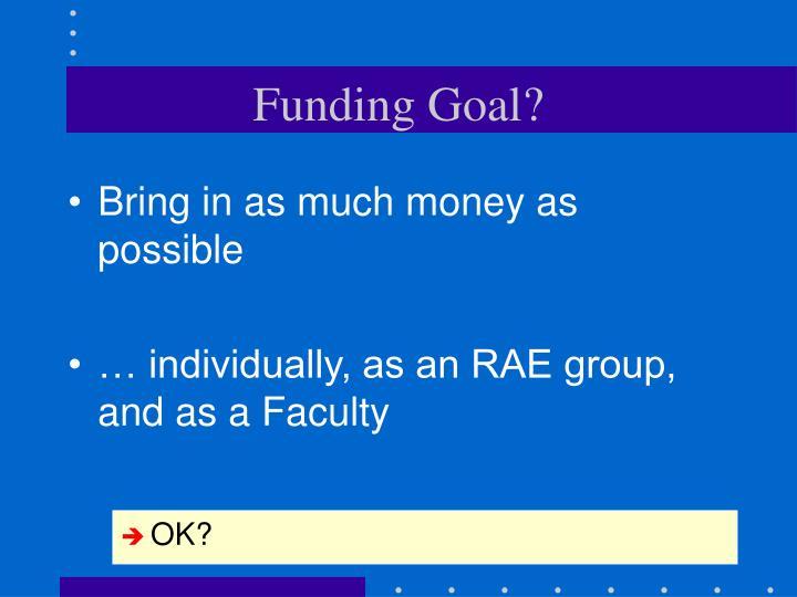 Funding Goal?