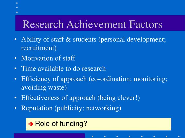 Research Achievement Factors