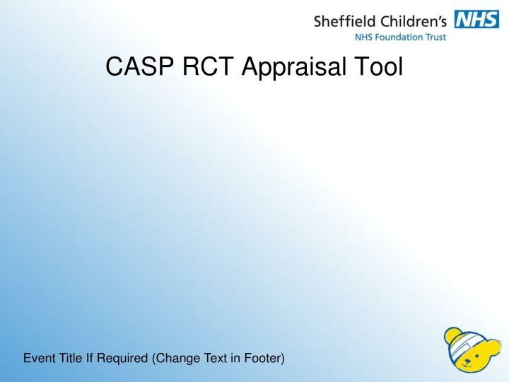 CASP RCT Appraisal Tool