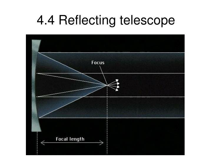 4.4 Reflecting telescope