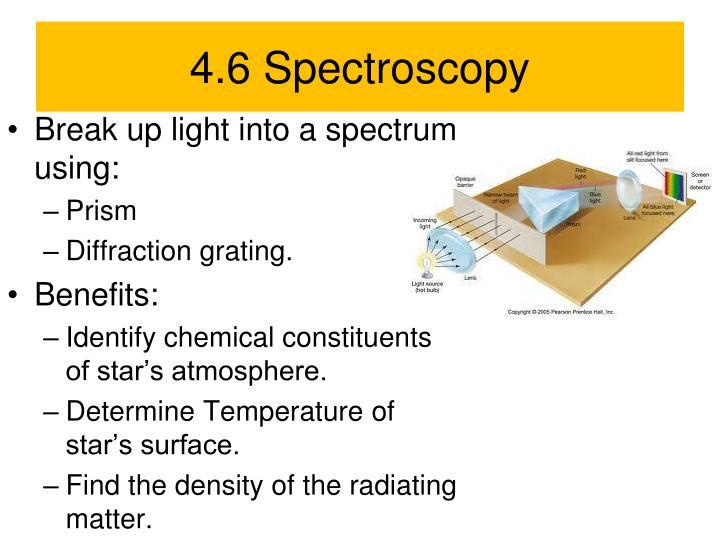 4.6 Spectroscopy