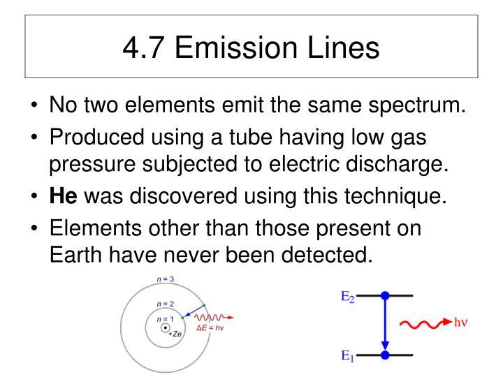 4.7 Emission Lines