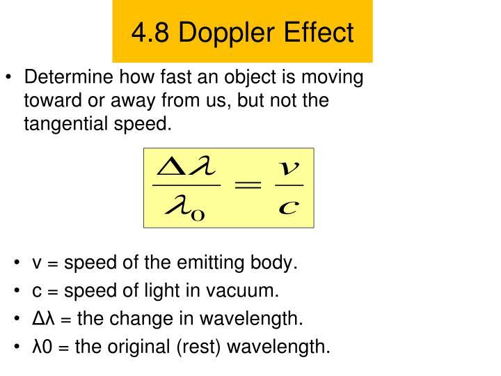 4.8 Doppler Effect