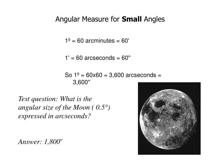 Angular Measure for