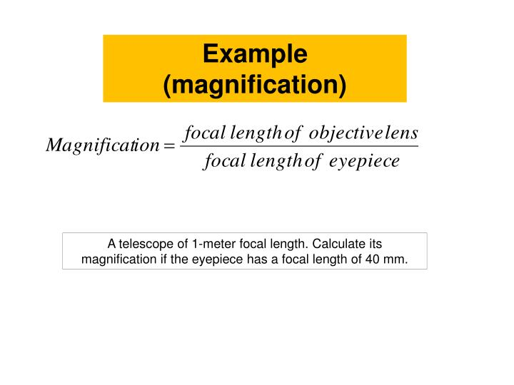 Example (magnification)