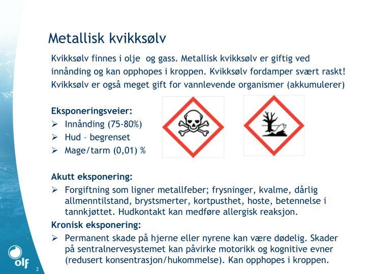 Metallisk kvikksølv