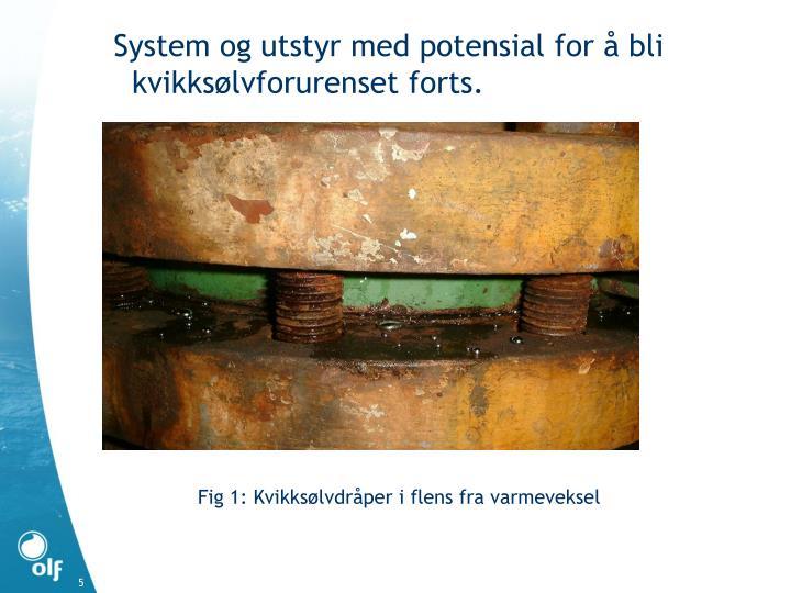 System og utstyr med potensial for å bli