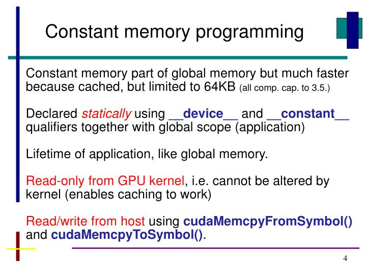 Constant memory programming