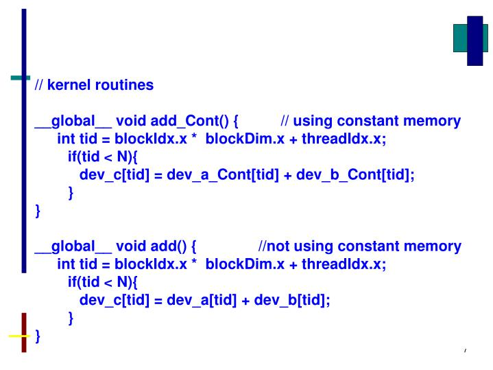 // kernel routines
