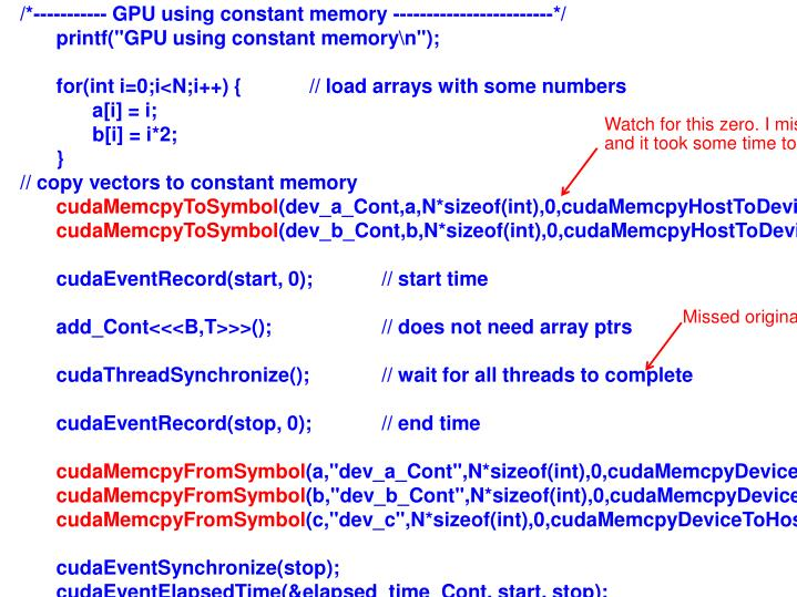 /*----------- GPU using constant memory ------------------------*/