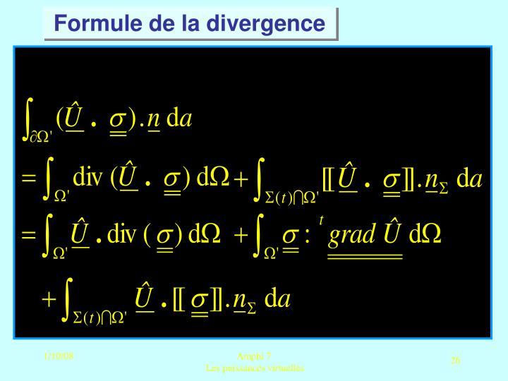 Formule de la divergence