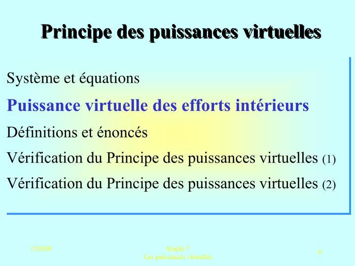 Principe des puissances virtuelles